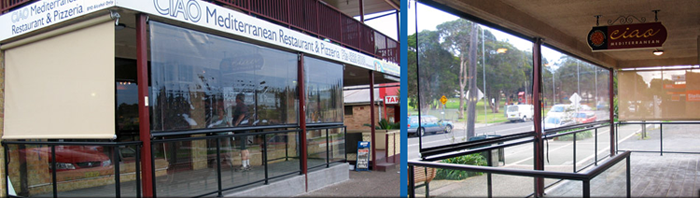 Patio & Balcony Waterproof Clear Cafe Blinds North Coast NSW